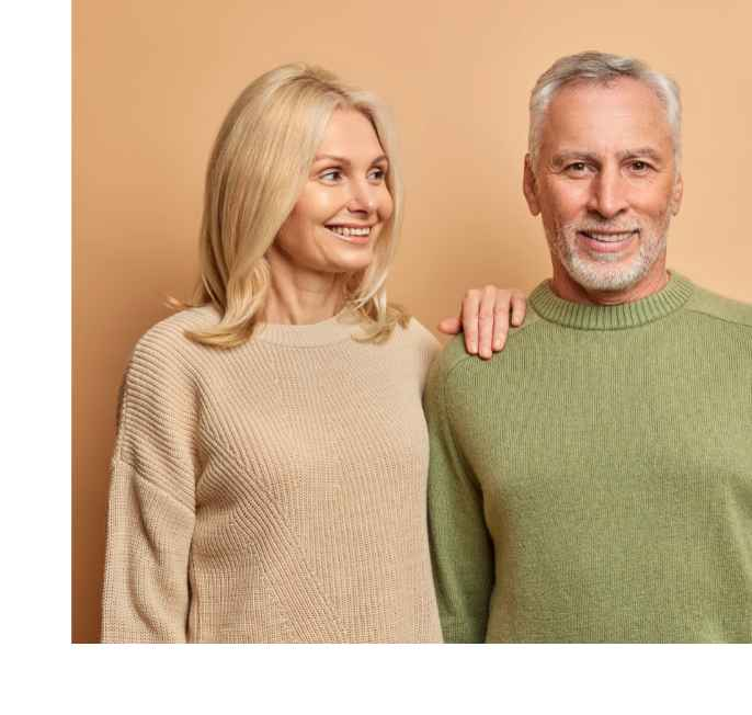 old couple life insurance pose